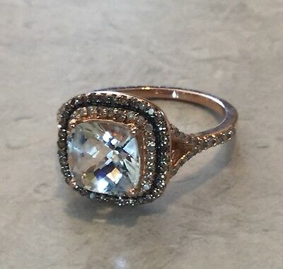 d1fdddce0d212 NEW! EFFY DIAMOND, 18 K Gold & Silver Square Ring/ Size 7 / Msrp ...