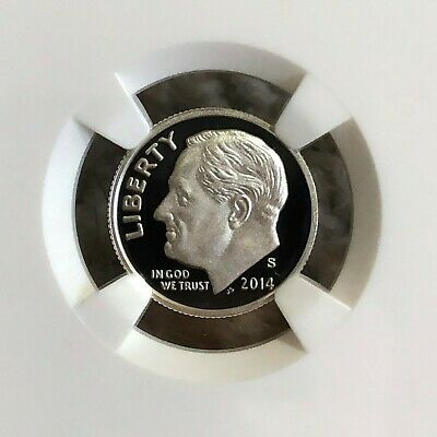 2014-S Roosevelt Silver Proof Dime - PF 70 Ultra Cameo; Portrait Label