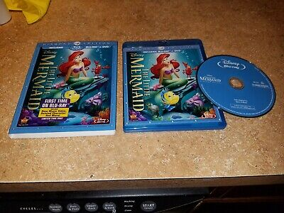 The Little Mermaid (Blu-ray, 2013, Diamond Edition) EXCELLENT W/ SLIPCOVER