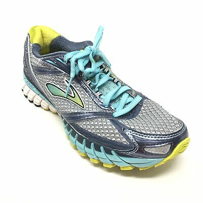 93ed16b941d Women s Brooks Ghost 6 Running Shoes Sneakers Size 9.5B Gray Blue Yellow K8
