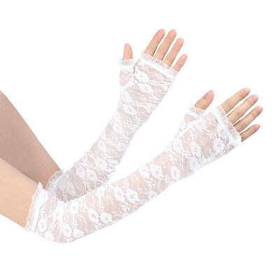 UV Protection Thin Lace Sleeves Outdoor Sunscreen Arm Cooling Sleeves for Women