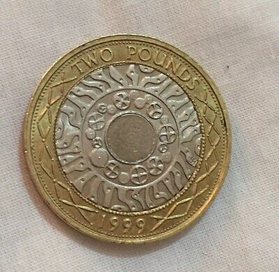 Rare 1999 £2 TWO POUND TECHNOLOGY COIN.NO BUNC COINS WERE RELEASED.VERY RARE.