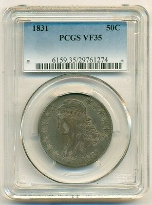 PCGS 1831 Capped Bust Half Dollar 50 Cents VF35*