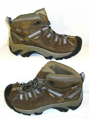 edef1f03613 KEEN DRY WOMENS Targhee II Mid Hiking Boots 6.5 Brown Blue (BB-5 ...