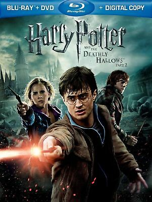 Harry Potter & Deathly Hallows Pt 2 (Bluray) LN DISC +COVER ART- NO CASE/DVD/DIG