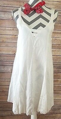 ed556c61c9f JET Cotton White BORDER LACE DRESS SOMEDAYS LOVIN NWT  109 Sz XS Festival  Boho