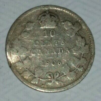 Canada Silver 10 Cents 1906 George Vll