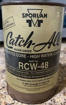 Sporlan RCW-48 Catch-All Filter Drier Use With R12 R22 R502 Freon C485 C19217G