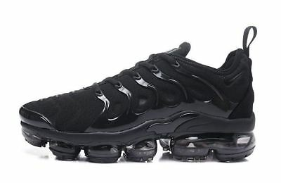 Brand New Mens Nike Vapormax Plus BLACK Athletic Shoes Various Sizes