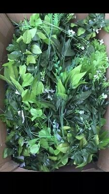 60x Artificial Greens Bunches Joblot Clearance Leaves Foliage Bush Greenery Lot