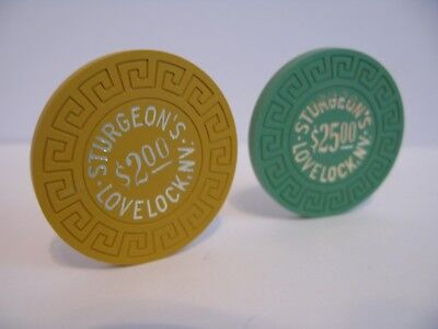 2 Casino Chips Sturgeon's  Lovelock,NV.    Rated M/N