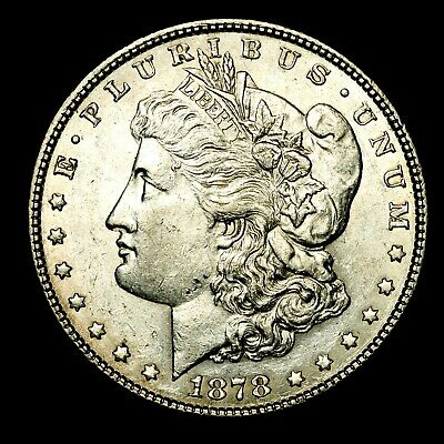 1878 P ~**ABOUT UNCIRCULATED AU**~ Silver Morgan Dollar Rare US Old Coin! #C58