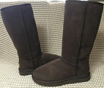 e7c0b12c7210 UGG Classic Tall II 2.0 Chocolate Water-resistant Suede Boots Size US 5  Womens