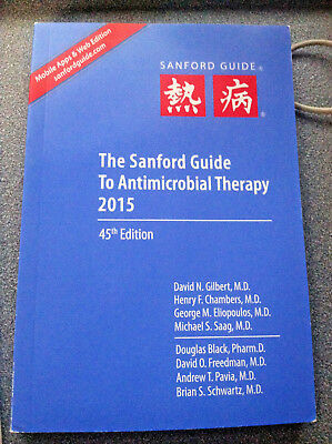 LIKE NEW The Sanford Guide to Antimicrobial Therapy 2015 by David N.,M.D.Gilbert