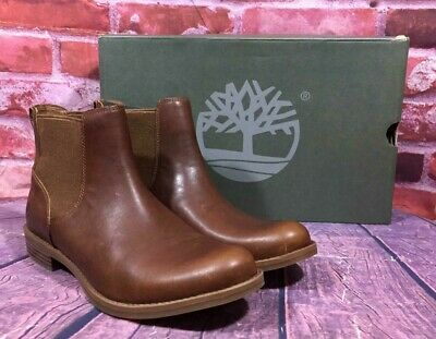 TIMBERLAND WOMEN'S MAGBY Low Chelsea Boots A1R2Y Dark Brown