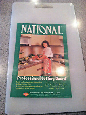 "New National Plastic cutting board 16"" x 9.5""  White"