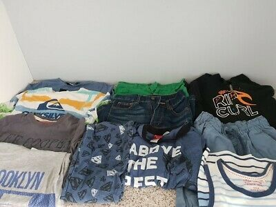 boys clothing bundle age 8 includes ripcurl & quiksilver