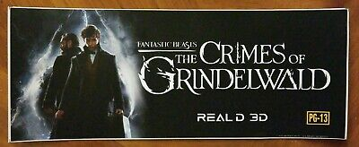 """FANTASTIC BEASTS The Crimes of Grindelwald (2018) - Movie Theater Mylar  5""""x13"""""""