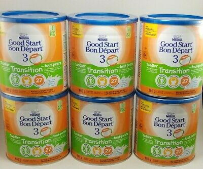 6 Cans of Nestle Good Start Toddler Transition Formula Powder Milk-based 680g