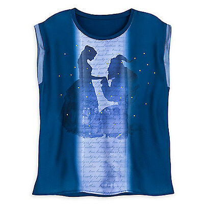 NWT Disney store Women Belle Fashion Top Shirt Blouse Beauty and The Beast