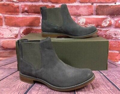 20bedb267497d1 TIMBERLAND WOMEN S MAGBY Chelsea Boots A1R2X Dark Grey Suede ...
