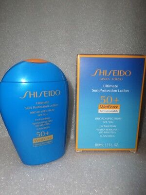 Shiseido Ultimate Sun Protection Lotion  Spf 50 + Face & Body 3.3 Oz Nib Exp2020