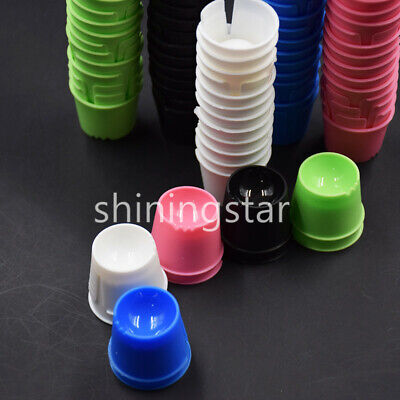 50x Dental Plastic Disposable Dappen Dish Bowl Acrylic Container Mixed Color