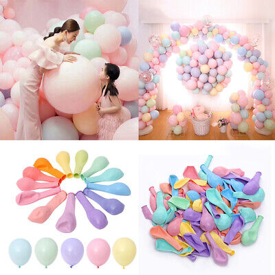 10/100Pcs Pastel Candy Balloons Wedding Party Round Helium Balloon Decoration