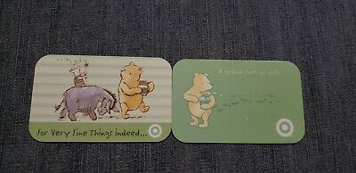 Target Disney Winnie the Pooh 2 Gift Card Lot NO $ Value Collectible Only