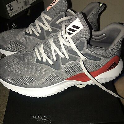 0b53a22053fc8 Men Adidas Alphabounce Beyond M Running Shoes Size 10 grey boost white red