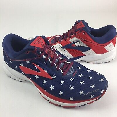 8e93d07fc79 Brooks Launch 5 Mens Size 10 Victory Red White Blue Stars Stripes 4th July