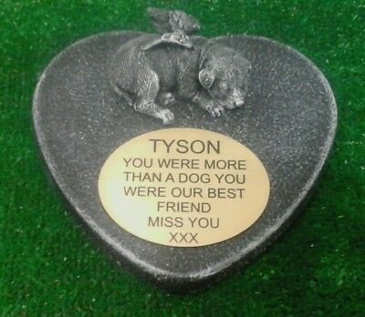 Dog Large Pet Memorial/headstone/stone/grave marker/memorial with plaque 13