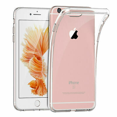 For Apple iPhone 6S 6 4.7 Silicone Clear Case Soft Gel Cover Bumper Rubber Skin