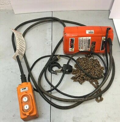 CM Hoist ShopStar Electric Chain Hoist Lifting Speed Max 300 Lbs Used