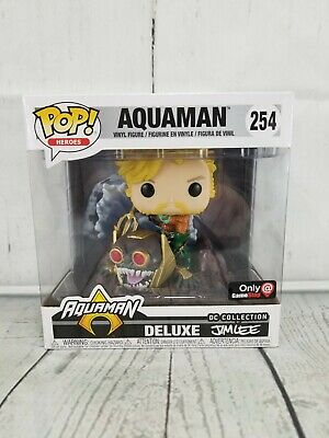 Funko POP Deluxe EXCLUSIVE Aquaman #254 Jim Lee DC Comics Vinyl Figure