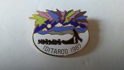 Iditarod Lapel Pin Brooch 1987 Alaska Dog Sled Racing Jostens