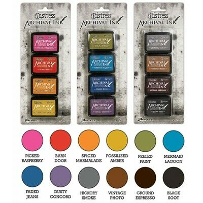 Ranger Tim Holtz 'DISTRESS ARCHIVAL INK PAD SETS' 4pk Acid Free Permanent