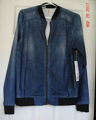 Nwt Lucy Dark Indigo Bomber Jacket Size Medium Retails $158 North Face Clothing, Shoes & Accessories Activewear