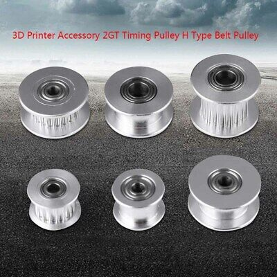 3D Printer Aluminum GT2 Bore Idler Pulley Ball Bearing for 3/4/5/6mm Timing Belt