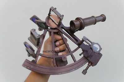 "8"" Antique Nautical Copper Sextant Marine Vintage Astrolabe Collectible Item."