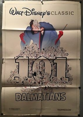 101 DALMATIANS DS Original One-Sheet Movie Poster R85 Disney