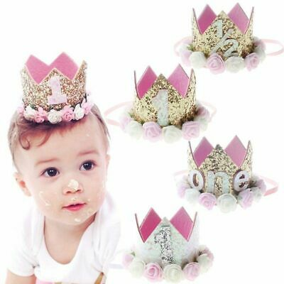 Baby Girl 1st Birthday Party Hat Princess Crown Decor Hair Accessory Unique