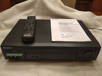 Sony Video Cassette Recorder SLV-N500 Hi-Fi Stereo With RMT-V402 Remote Control
