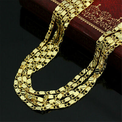 Gold Plated 18K, Stainless Steel 316L 2mm Width Rope Chain Necklace Men Women
