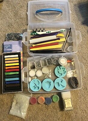 Clay Sculpting Tools Set For Polymer Clay Lot of pastels tools cookie cutters