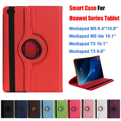 360 Rotating Smart Case Cover Shell for Huawei MediaPad M5 8.4/10.8 T3 T5 10 A+