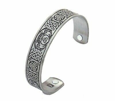 Celtic Knot Magnetic Bracelet Irish Claddagh Love Friendship Cuff Bangle