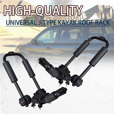 Pair Universal Roof JBar Rack for Kayak Boat Canoe Car SUV Top Mount Carrier New