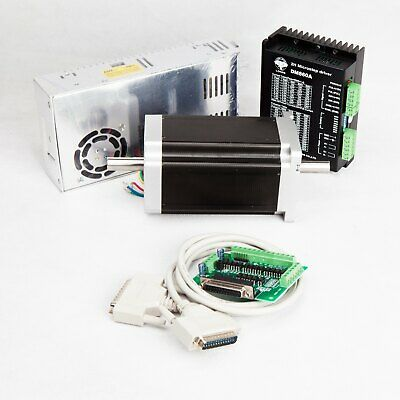 Free Ship 1Axis Nema 34 Stepper Motor 1232oz.in 5.6A Dual Shaft&Step Driver CNC