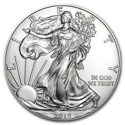2019 1 oz Silver American Eagle Brilliant Uncirculated Coin .999 1oz. BU